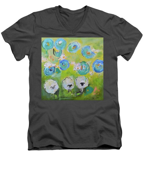 Tres Sheep Men's V-Neck T-Shirt