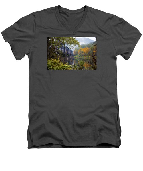 Trestle In Autumn Men's V-Neck T-Shirt