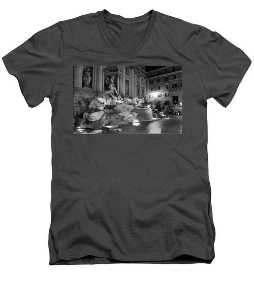 Trevi Fountain Night 2 Men's V-Neck T-Shirt