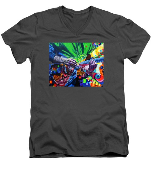 Trey Anastasio 4 Men's V-Neck T-Shirt by Kevin J Cooper Artwork