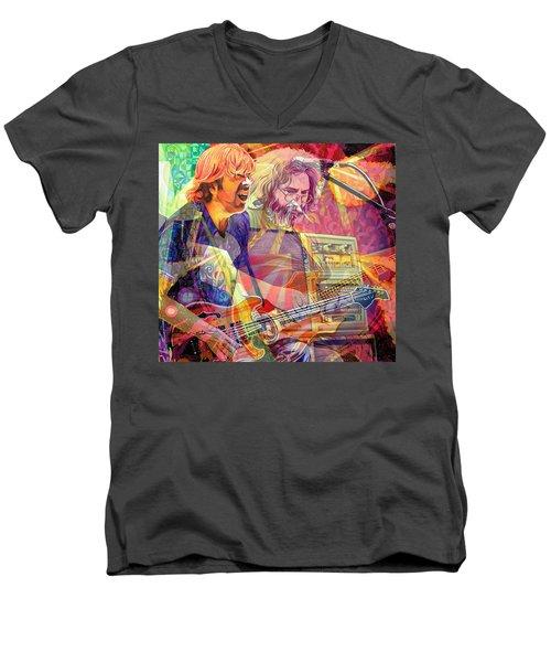 Trey Channeling Cosmic Jerry Men's V-Neck T-Shirt