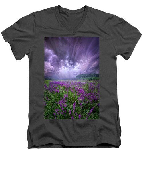 Men's V-Neck T-Shirt featuring the photograph Trials And Tribulations by Phil Koch