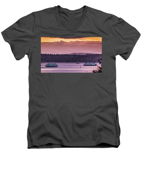 Triangle Ferry Run Men's V-Neck T-Shirt