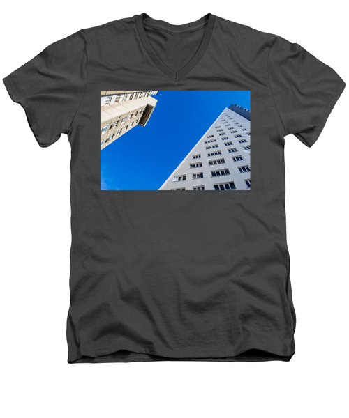Men's V-Neck T-Shirt featuring the photograph Triangle Modern Building by John Williams