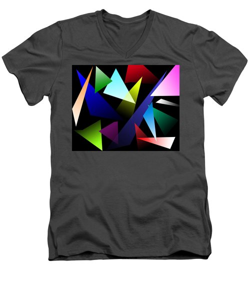 Triangles Men's V-Neck T-Shirt