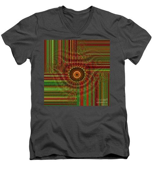 Tribal Drape Men's V-Neck T-Shirt