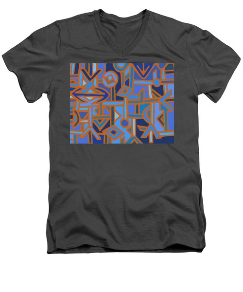 Tribal Kuba Traffic Men's V-Neck T-Shirt