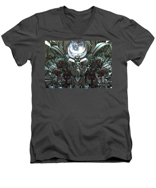 Tribal Symbols  Men's V-Neck T-Shirt by Melissa Messick