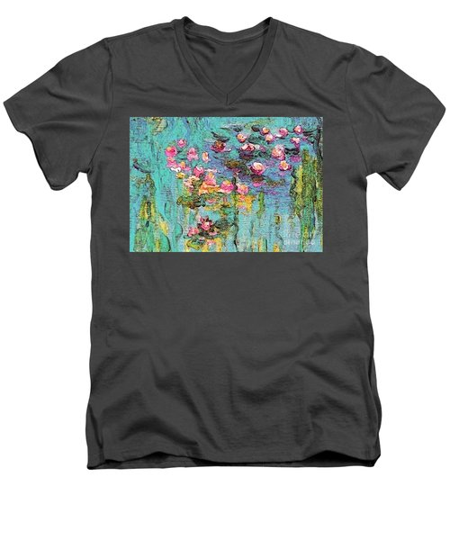 Tribute To Monet II Men's V-Neck T-Shirt by Holly Martinson