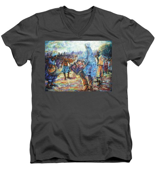 Tribute To The Royal Fathers Men's V-Neck T-Shirt by Bankole Abe