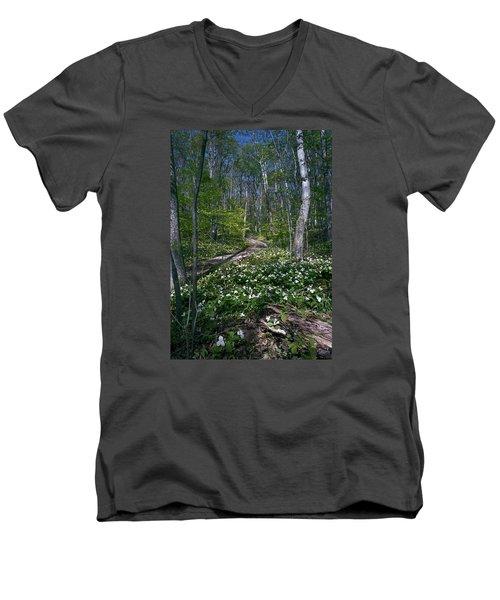 Trillium Woods No. 2 Men's V-Neck T-Shirt