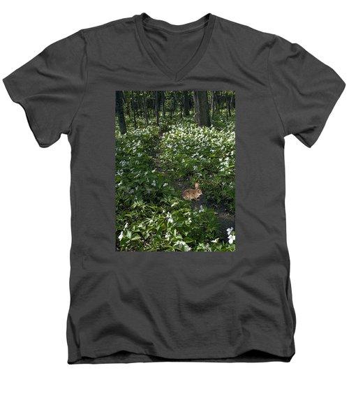 Trillium Woods No. 3 Men's V-Neck T-Shirt