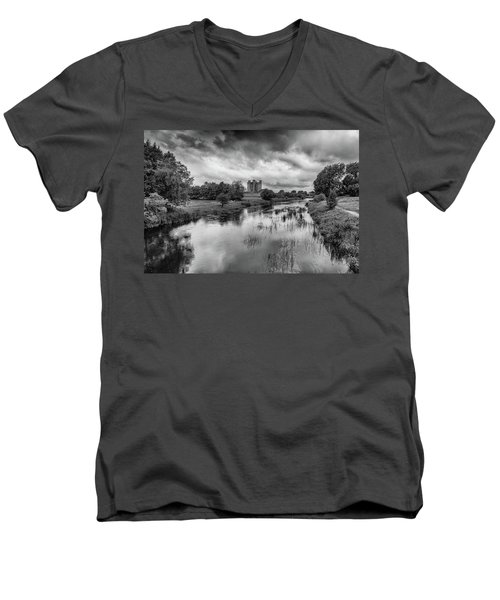 Trim Castle And The River Boyne Men's V-Neck T-Shirt by Martina Fagan