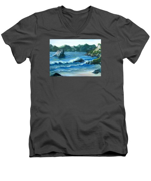 Trinidad Beach Men's V-Neck T-Shirt