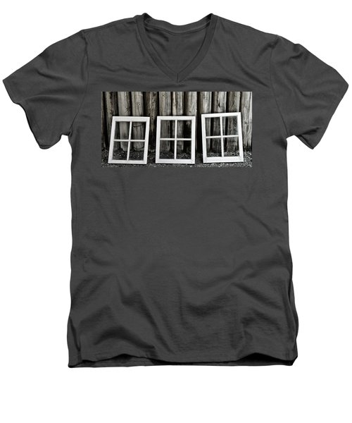 Men's V-Neck T-Shirt featuring the photograph Trio by Brad Allen Fine Art