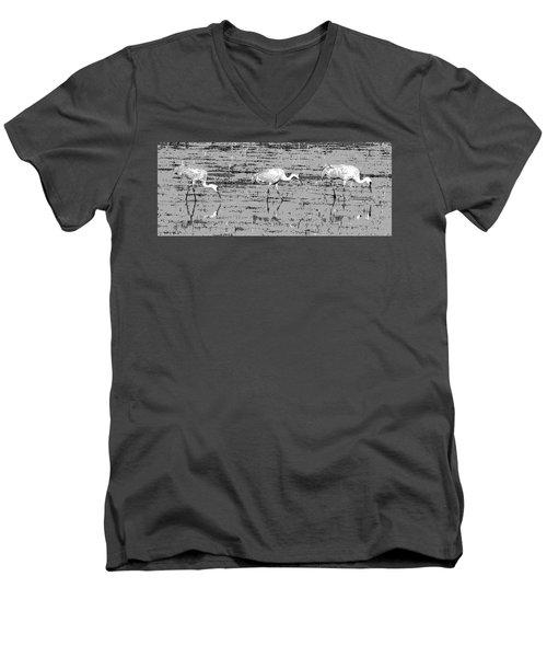 Trio Of Cranes Men's V-Neck T-Shirt