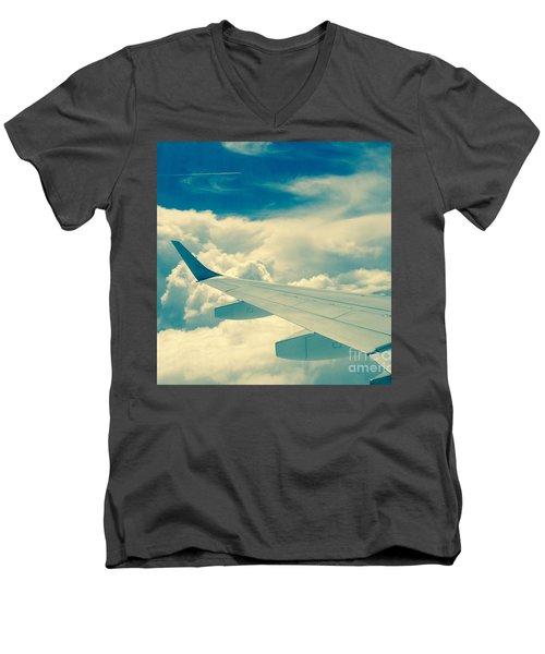 Trip To Men's V-Neck T-Shirt by France Laliberte