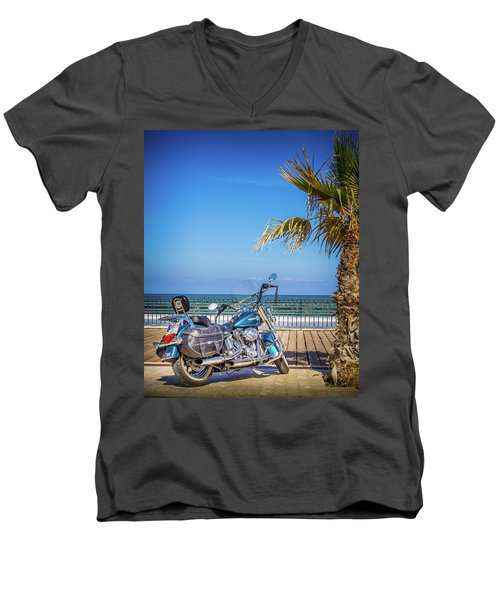 Trip To The Sea. Men's V-Neck T-Shirt