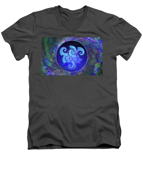 Triskelion Men's V-Neck T-Shirt