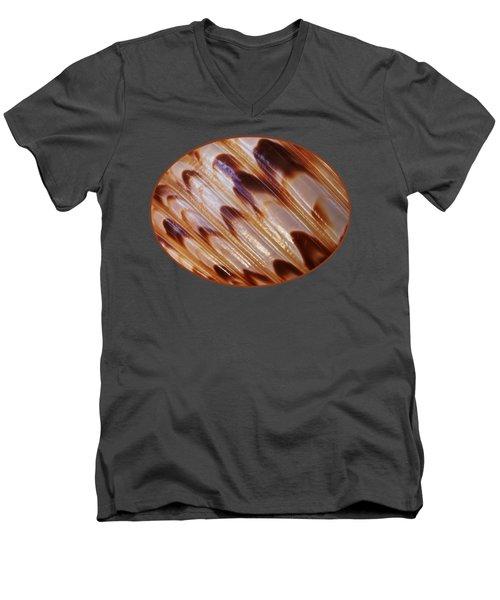 Triton Seashell Abstract Men's V-Neck T-Shirt by Gill Billington