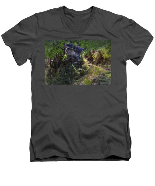 Trolley Bus Into The Jungle Men's V-Neck T-Shirt