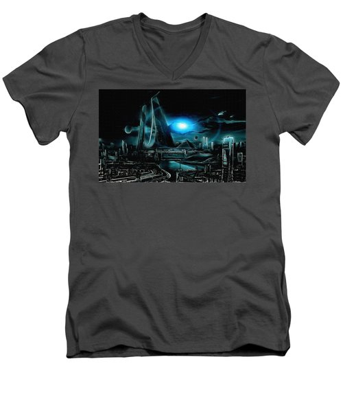 Tron Revisited Men's V-Neck T-Shirt