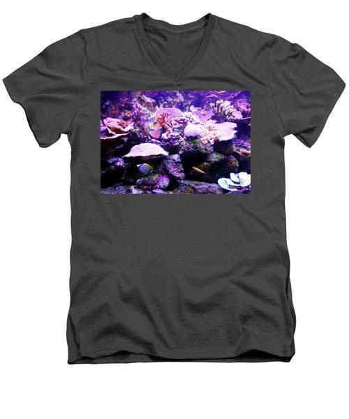 Men's V-Neck T-Shirt featuring the photograph Tropical Aquarium by Francesca Mackenney