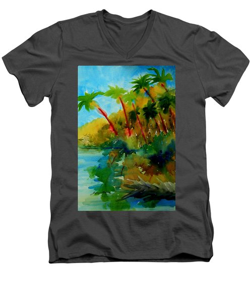 Tropical Canal Men's V-Neck T-Shirt