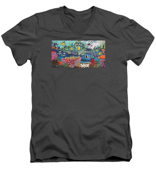 Tropical Fish Colors Men's V-Neck T-Shirt