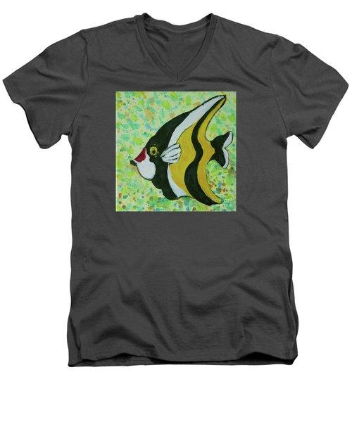 Tropical Fish Series 1 Of 4 Men's V-Neck T-Shirt by Gail Kent