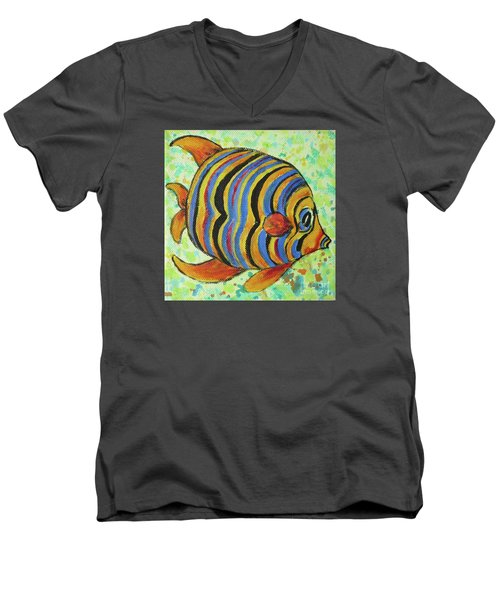 Tropical Fish Series 4 Of 4 Men's V-Neck T-Shirt