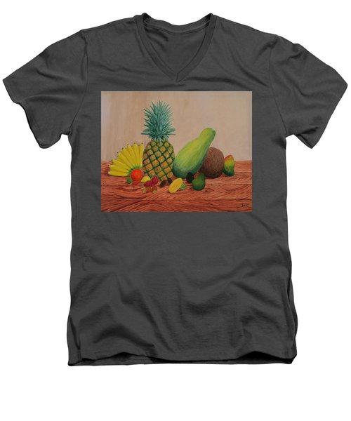 Tropical Fruits Men's V-Neck T-Shirt