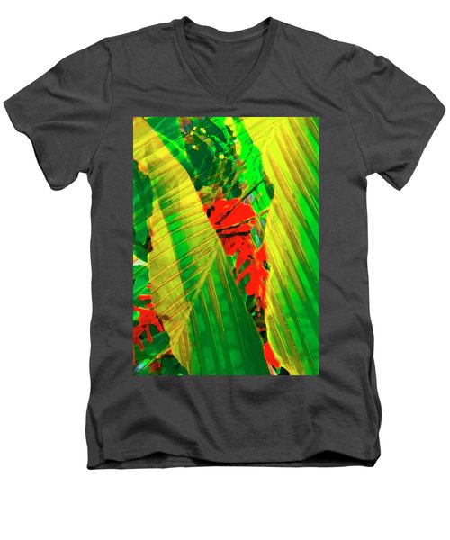 Tropical Fusion Men's V-Neck T-Shirt