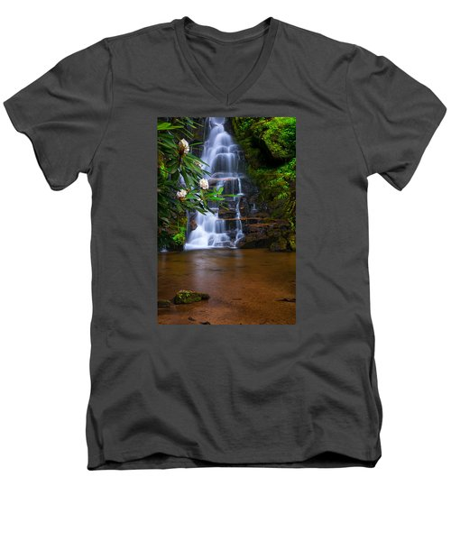 Tropical Garden Men's V-Neck T-Shirt
