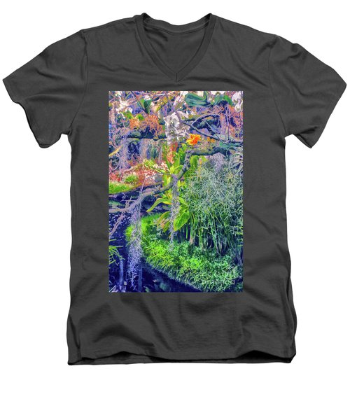 Tropical Garden Men's V-Neck T-Shirt