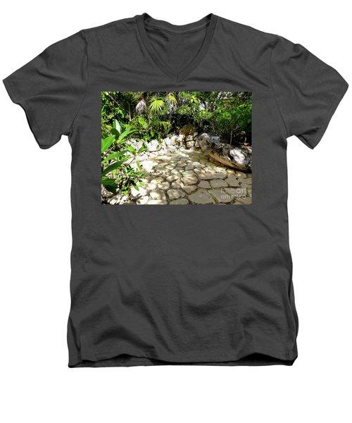 Men's V-Neck T-Shirt featuring the photograph Tropical Hiding Spot by Francesca Mackenney
