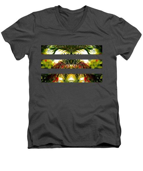 Tropical Kaleidoscope Men's V-Neck T-Shirt