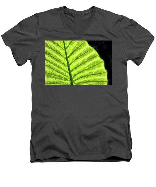 Tropical Leaf Men's V-Neck T-Shirt