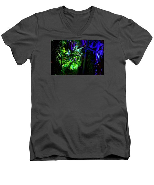 Men's V-Neck T-Shirt featuring the photograph Into The Psychedelic Jungle by Richard Ortolano