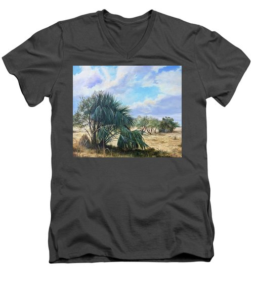 Tropical Orange Grove Men's V-Neck T-Shirt