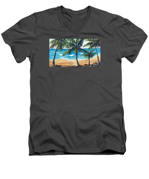 Tropical Palms I Men's V-Neck T-Shirt