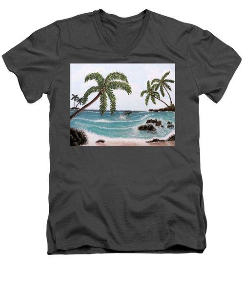 Tropical Paradise Men's V-Neck T-Shirt