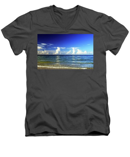 Men's V-Neck T-Shirt featuring the photograph Tropical Storm Brewing by Gary Wonning