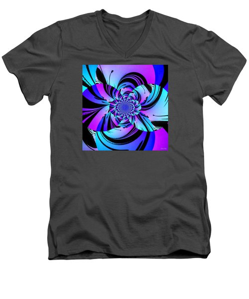 Men's V-Neck T-Shirt featuring the digital art Tropical Transformation by Kathy Kelly