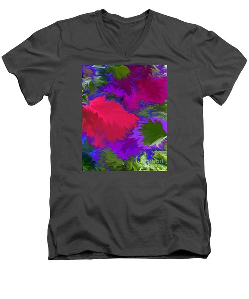 Men's V-Neck T-Shirt featuring the photograph Tropicana by Patricia Griffin Brett