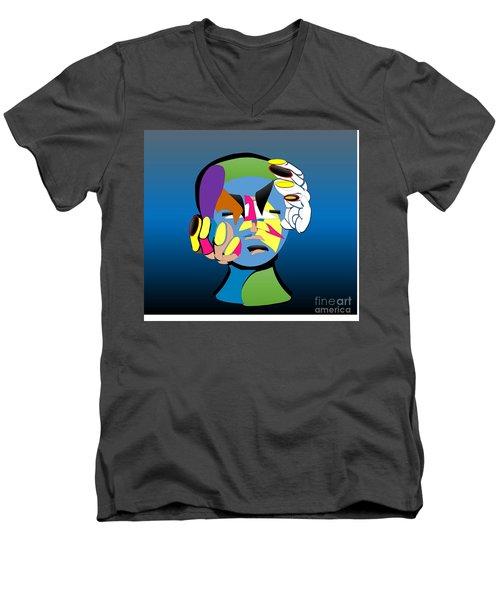 Troubled Men's V-Neck T-Shirt