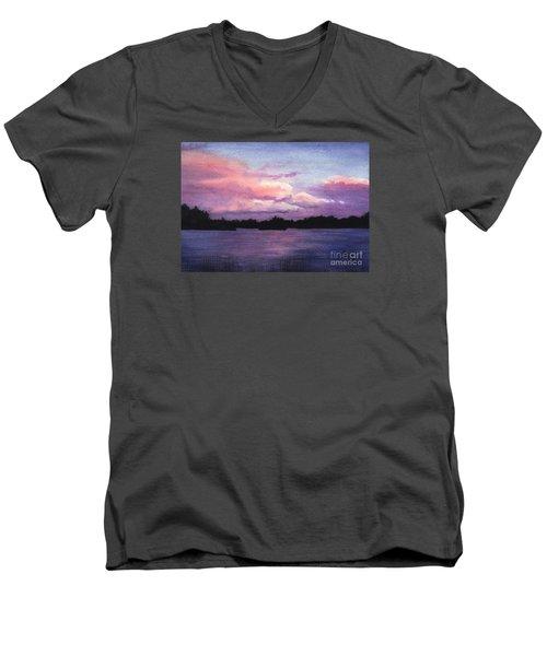 Trout Lake Sunset I Men's V-Neck T-Shirt