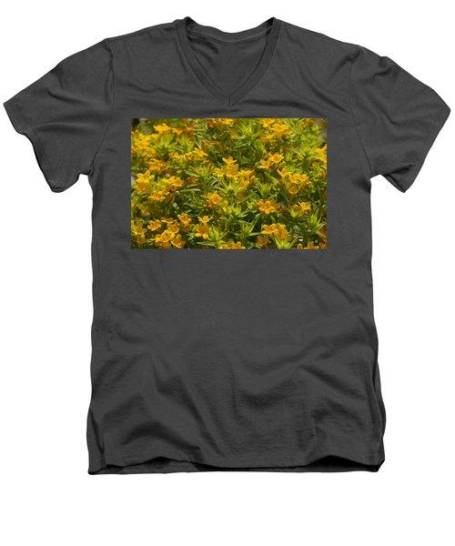 True Gold Men's V-Neck T-Shirt by Tim Good