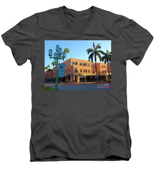 Truluck's Restaurant In Beautiful Mizner Park. Boca Raton, Fl. Men's V-Neck T-Shirt