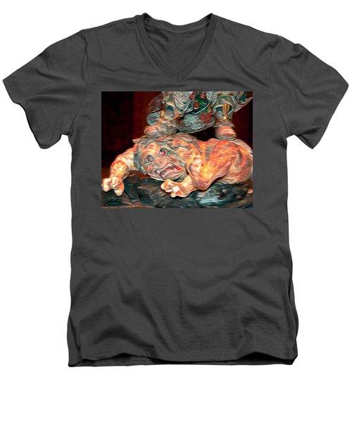 Trump Has Your Back Puerto Rico Men's V-Neck T-Shirt